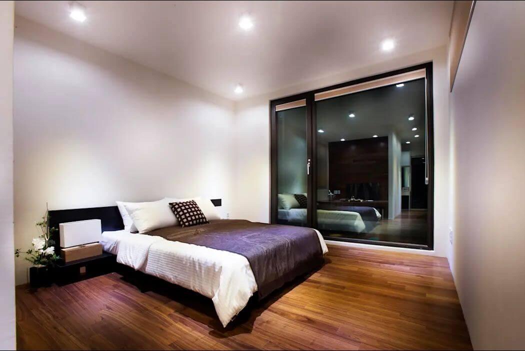 Không gian phòng ngủ - Mặt tiền nhà 2 tầng