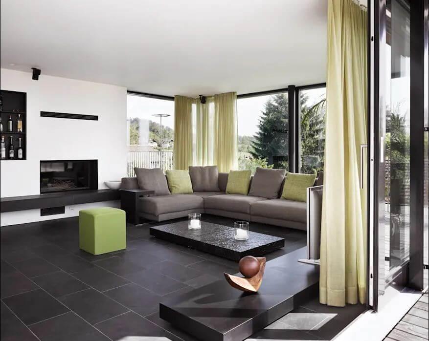 Không gian phòng khách - Mẫu thiết kế nhà vườn đẹp
