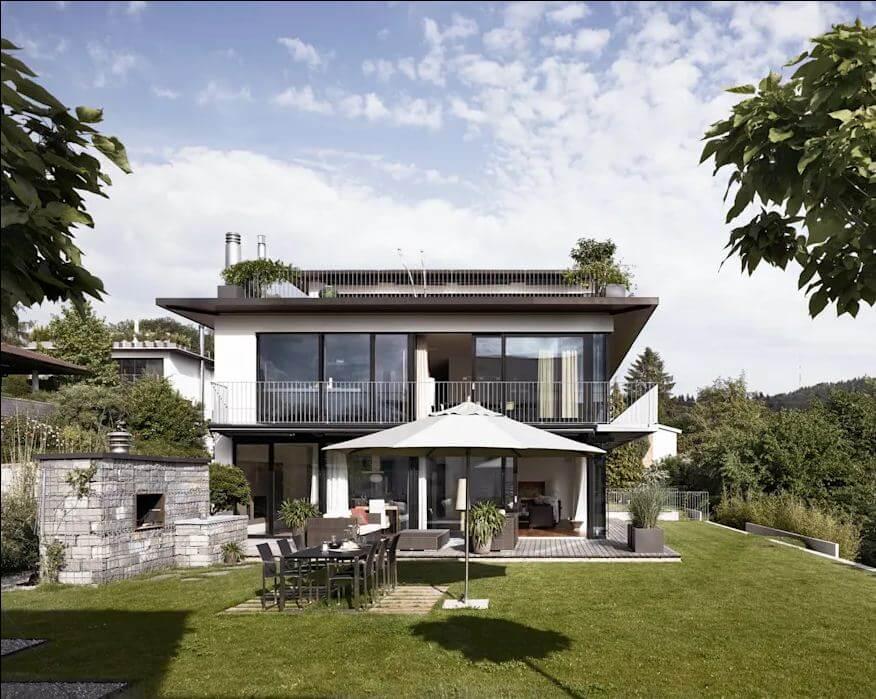 Mặt tiền hiện đại - Mẫu thiết kế nhà vườn đẹp
