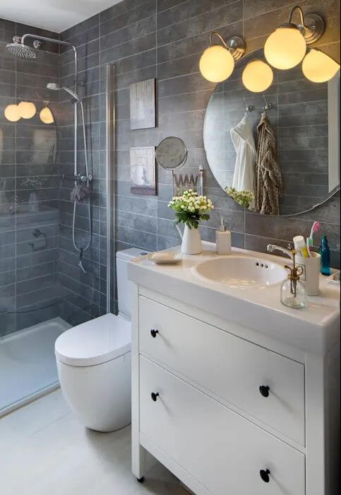 Phòng tắm nhỏ xinh - Căn nhà gỗ 1 tầng