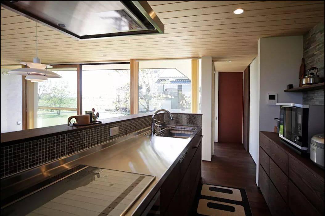 Khu bếp ăn hiện đại - Nhà 1 tầng hiện đại