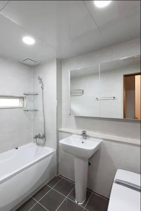 Thiết kế phòng tắm - Mẫu nhà kiểu Hàn Quốc
