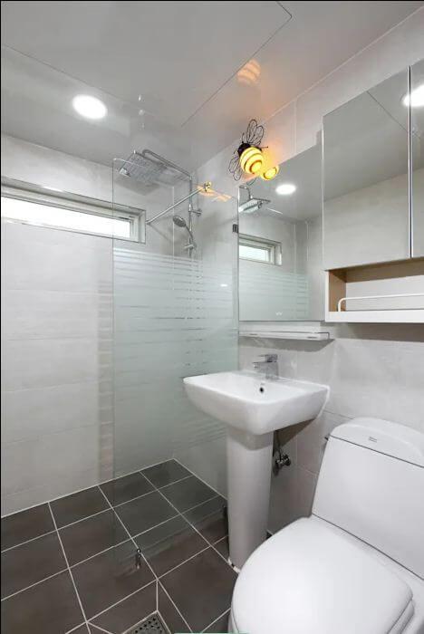 Thiết kế phòng tắm - Mẫu nhà kiểu Hàn Quốc - 1