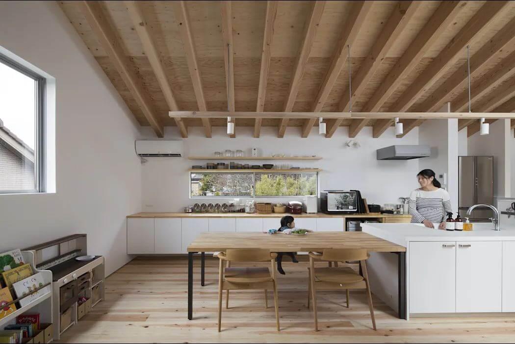 Không gian bếp ấm cúng - Mẫu nhà kiểu Nhật