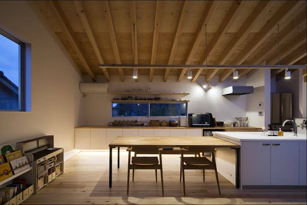 Không gian bếp ấm cúng - Mẫu nhà kiểu Nhật - 1