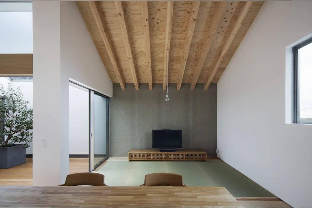 Không gian phòng khách - Mẫu nhà kiểu Nhật