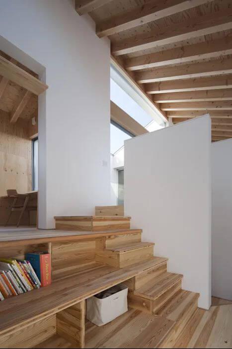 Cầu thang kết nối không gian - Mẫu nhà kiểu Nhật - 1