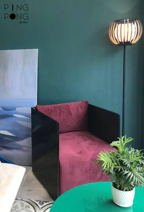 Ghế tựa đơn khung thép dành cho phòng khách gia đình