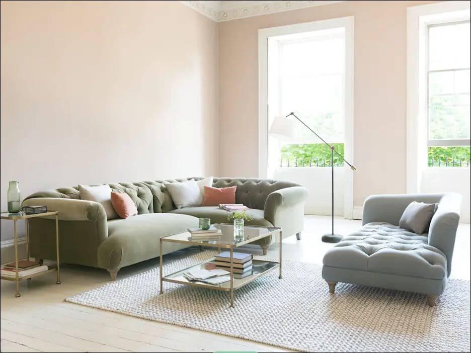 Ghế Sofa bọc nhung họa tiết dành cho phòng khách gia đình - 1