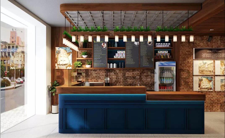 Quầy Order bắt mắt - Thiết kế quán cà phê