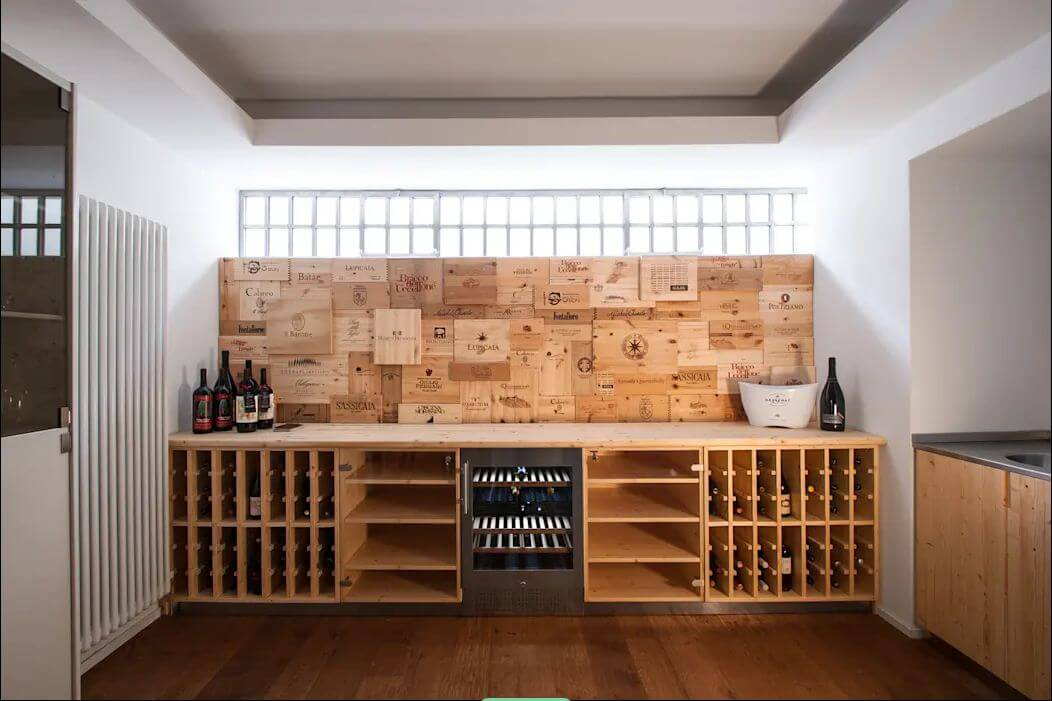 Tủ rượu gỗ - Thiết kế hầm rượu