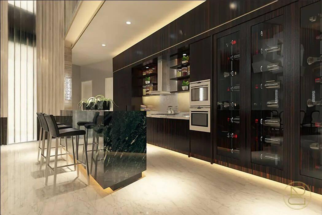 Tủ kính bảo quản - Thiết kế hầm rượu