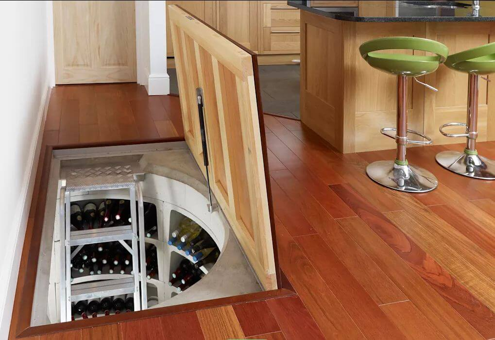 Hầm rượu gỗ - Thiết kế hầm rượu