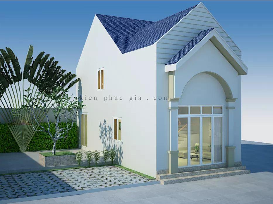 Ưu tiên sử dụng chất liệu kính trong mẫu thiết kế nhà phố có gác lửng
