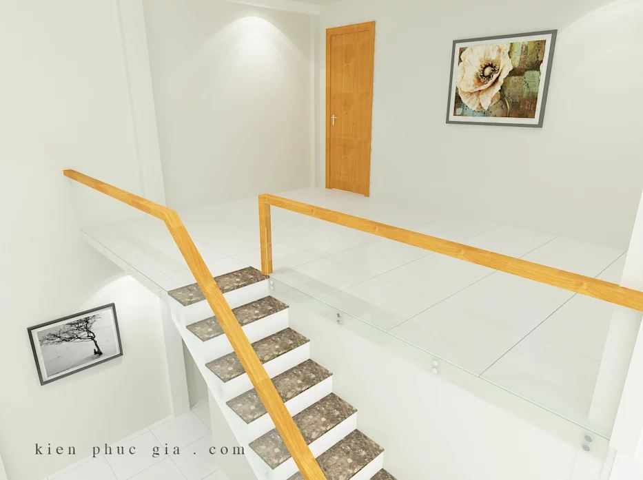 Ưu tiên sử dụng chất liệu kính trong mẫu thiết kế nhà phố có gác lửng - 1