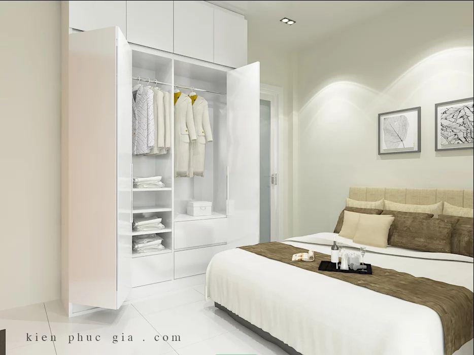 Phòng ngủ 1 của mẫu thiết kế nhà phố có gác lửng - 1