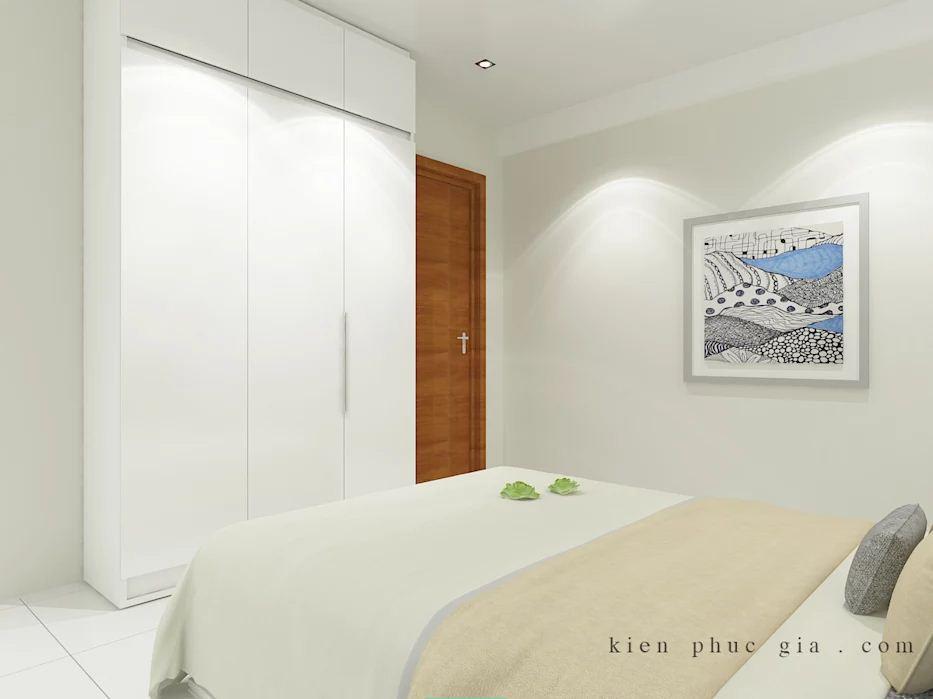 Không gian phòng ngủ 2 của mẫu thiết kế nhà phố có gác lửng - 1