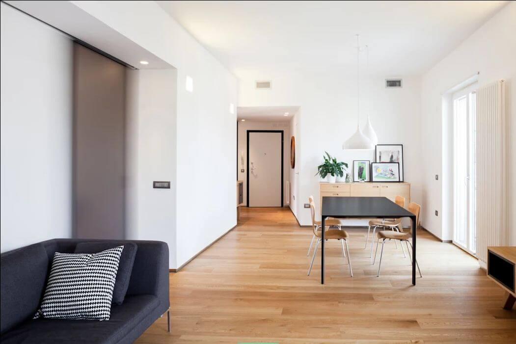 Khu bàn ăn đơn giản, mộc mạc - Thiết kế nội thất nhà 1 tầng