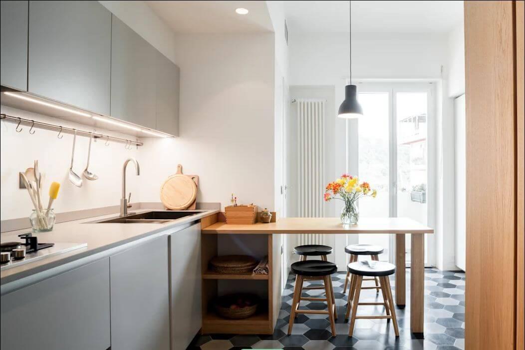 Thiết kế bếp hiện đại - Thiết kế nội thất nhà 1 tầng - 1