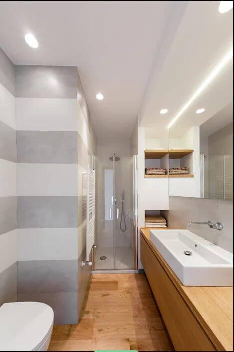 Phòng tắm sang trọng - Thiết kế nội thất nhà 1 tầng