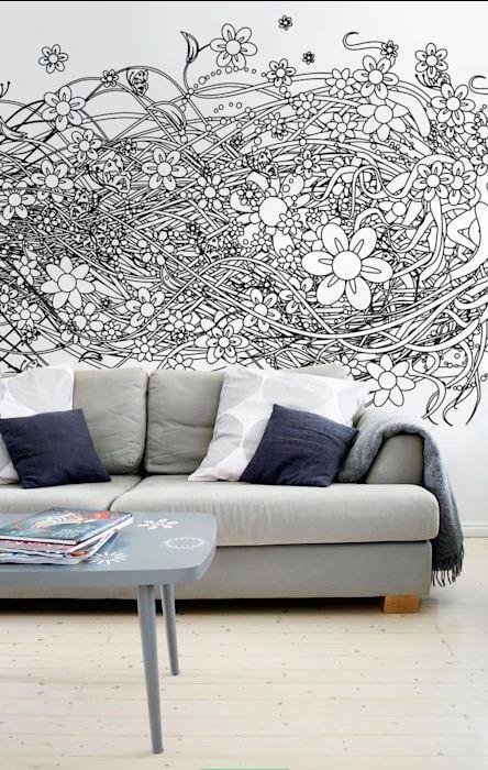 Tranh vẽ tường - Thiết kế quán Cafe đẹp - 1