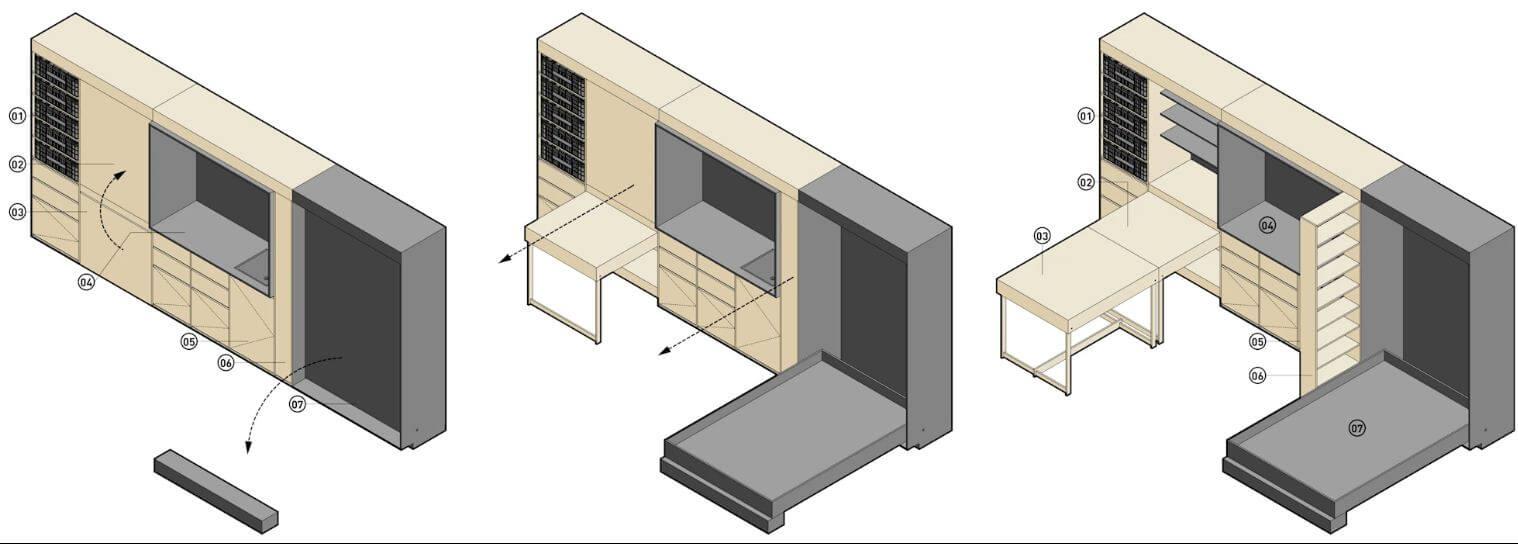 Đồ nội thất thông minh - Thiết kế nhà Container