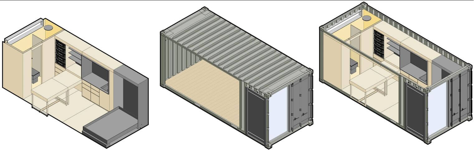 Khung nhà Container - Thiết kế nhà Container