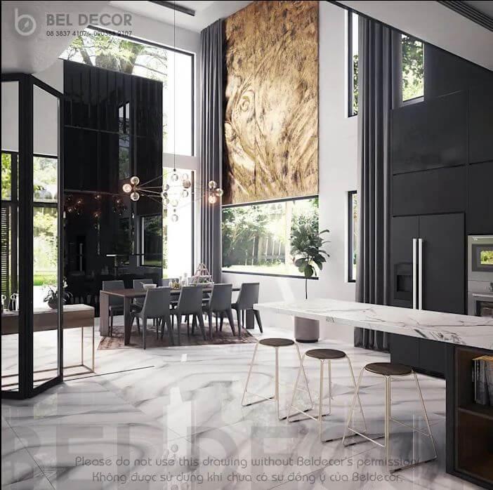 Không gian phòng bếp - Villa hiện đại - 1