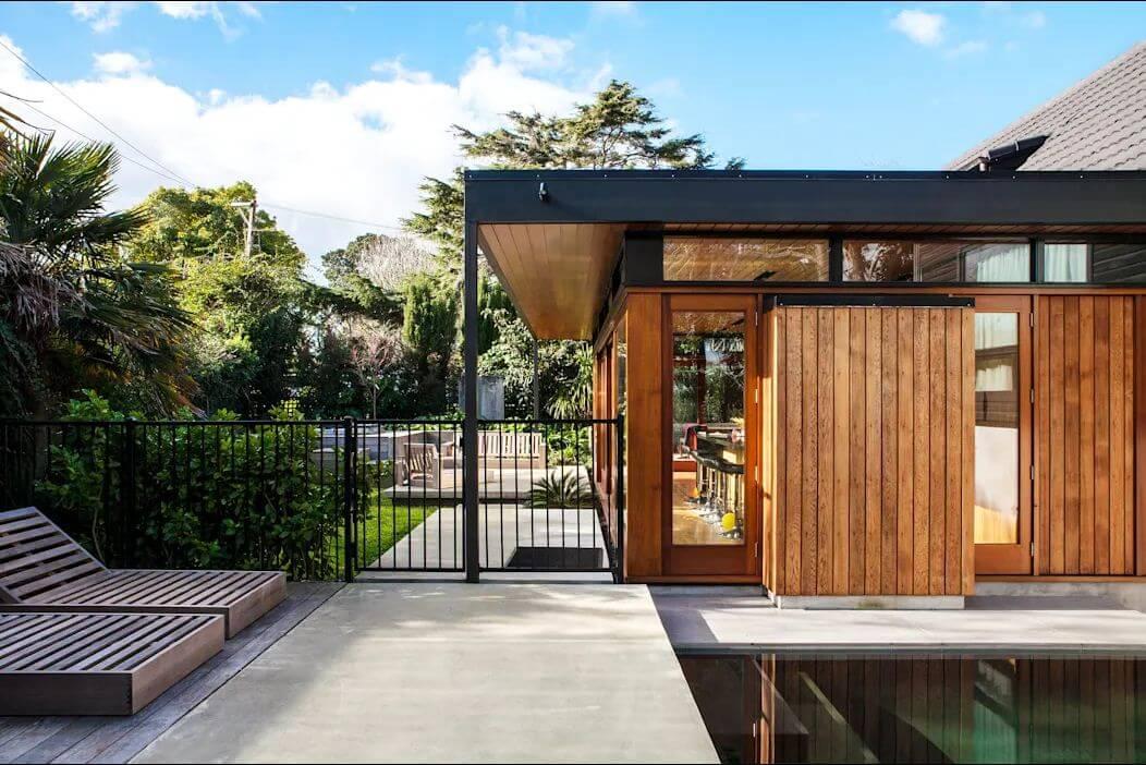 Ý tưởng xây nhà khung thép 2 tầng tuyệt đẹp kết hợp với gỗ