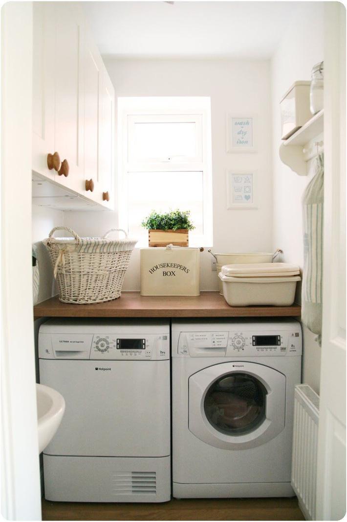 Phòng giặt sạch sẽ ngăn nắp