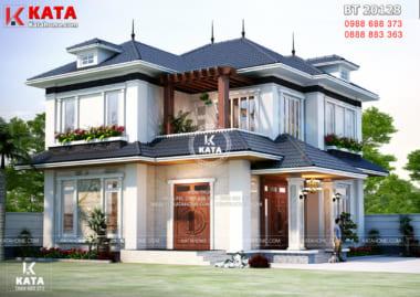 Một góc view của mẫu biệt thự nhà vườn 2 tầng đẹp tại Thanh Hóa