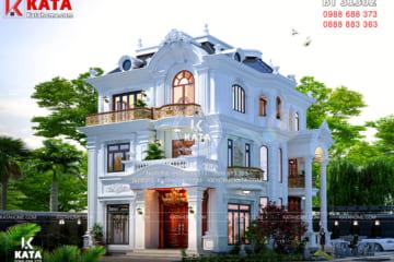 Vẻ đẹp của phong cách kiến trúc của mẫu biệt thự 3 tầng đẹp tân cổ điển tại Hà Tĩnh