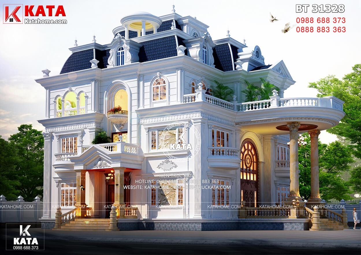 Một góc nhìn không kém phần mê hoặc của mẫu dinh thự tân cổ điển 3 tầng đẹp đẳng cấp tại Bắc Giang