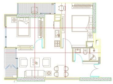 Tư vấn phong thủy, chia mặt bằng nhà thành 9 ô vuông bằng nhau để xác định trung cung