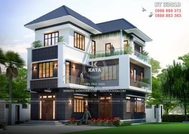 Biệt thự chữ L 3 tầng hiện đại đẹp tại Quảng Ninh - Mã số: BT 33018