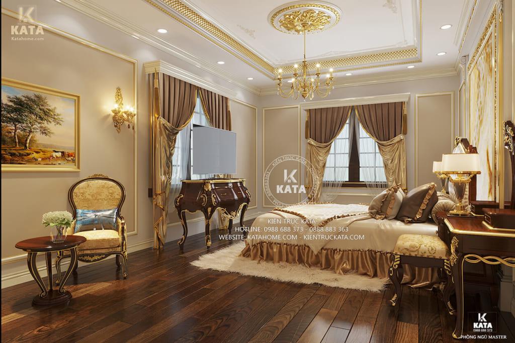 Thiết kế phòng ngủ theo phong cách tân cổ điển đẹp và hài hòa