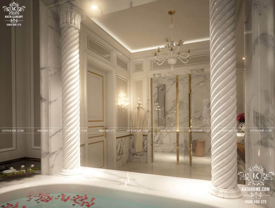 Nội thất nhà tắm đẹp theo phong cách kiến trúc tân cổ điển