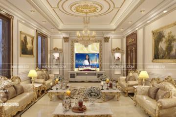 Thiết kế nội thất biệt thự đẹp phòng sinh hoạt chung