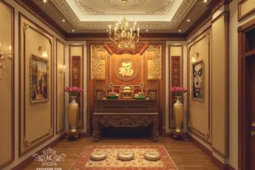 Thiết kế nội thất biệt thự phòng thờ đẹp
