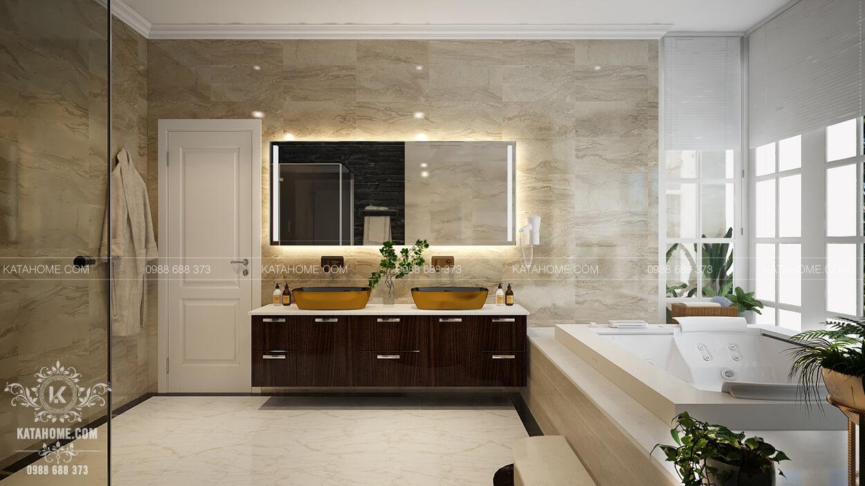 Thiết kế nội thất biệt thự đẹp phòng sinh WC