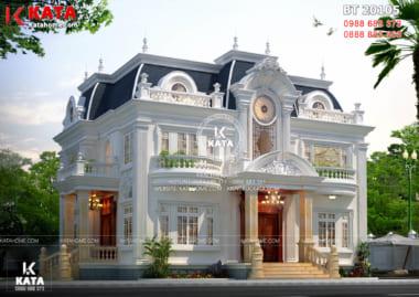 Phong cách kiến trúc Pháp của mẫu biệt thự tân cổ điển đẹp 1 trệt 2 lầu tại Sài Gòn – Mã số: BT20105