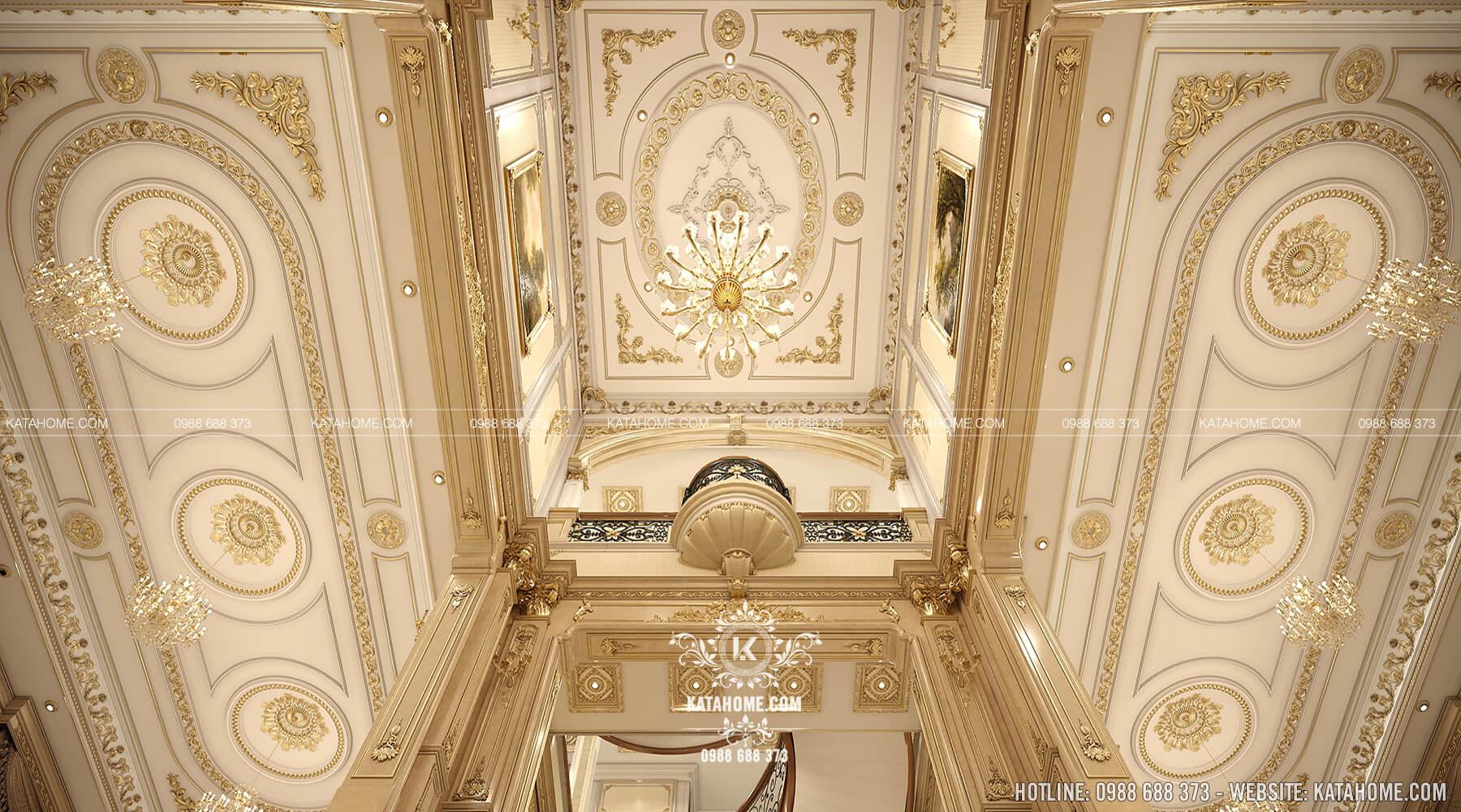 Thiết kế nội thất khoảng thông tầng biệt thự tân cổ điển