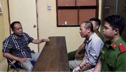 Công an làm việc với đối tượng Đông trong vụ thảm sát gia đình ở Hà Nội