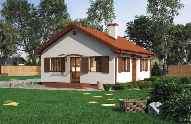 Một trong những mẫu thiết kế nhà cấp 4 đậm chất châu Âu với sắc trắng chủ đạo, mái ngói có ống khói và tường rào gỗ bao quanh.