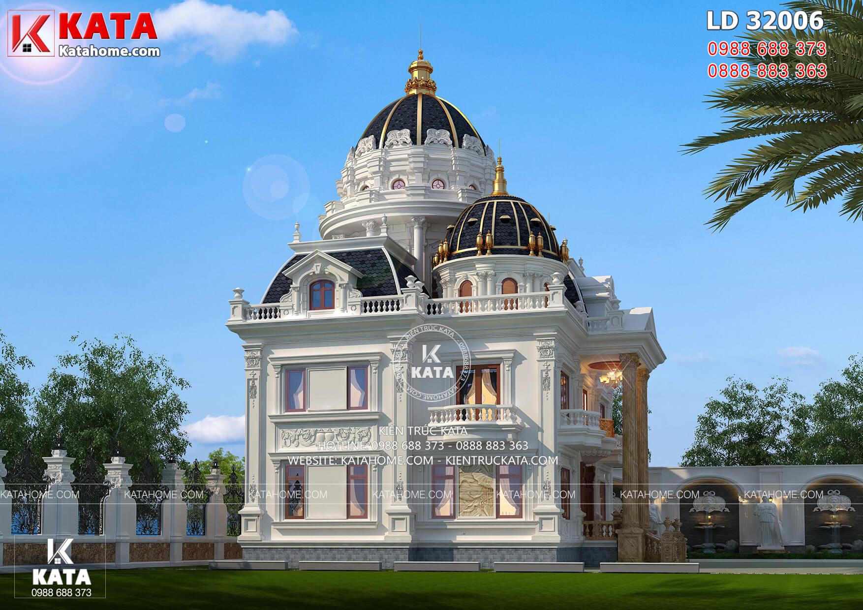Một góc view mẫu dinh thự lâu đài sang trọng tại Sài Thành