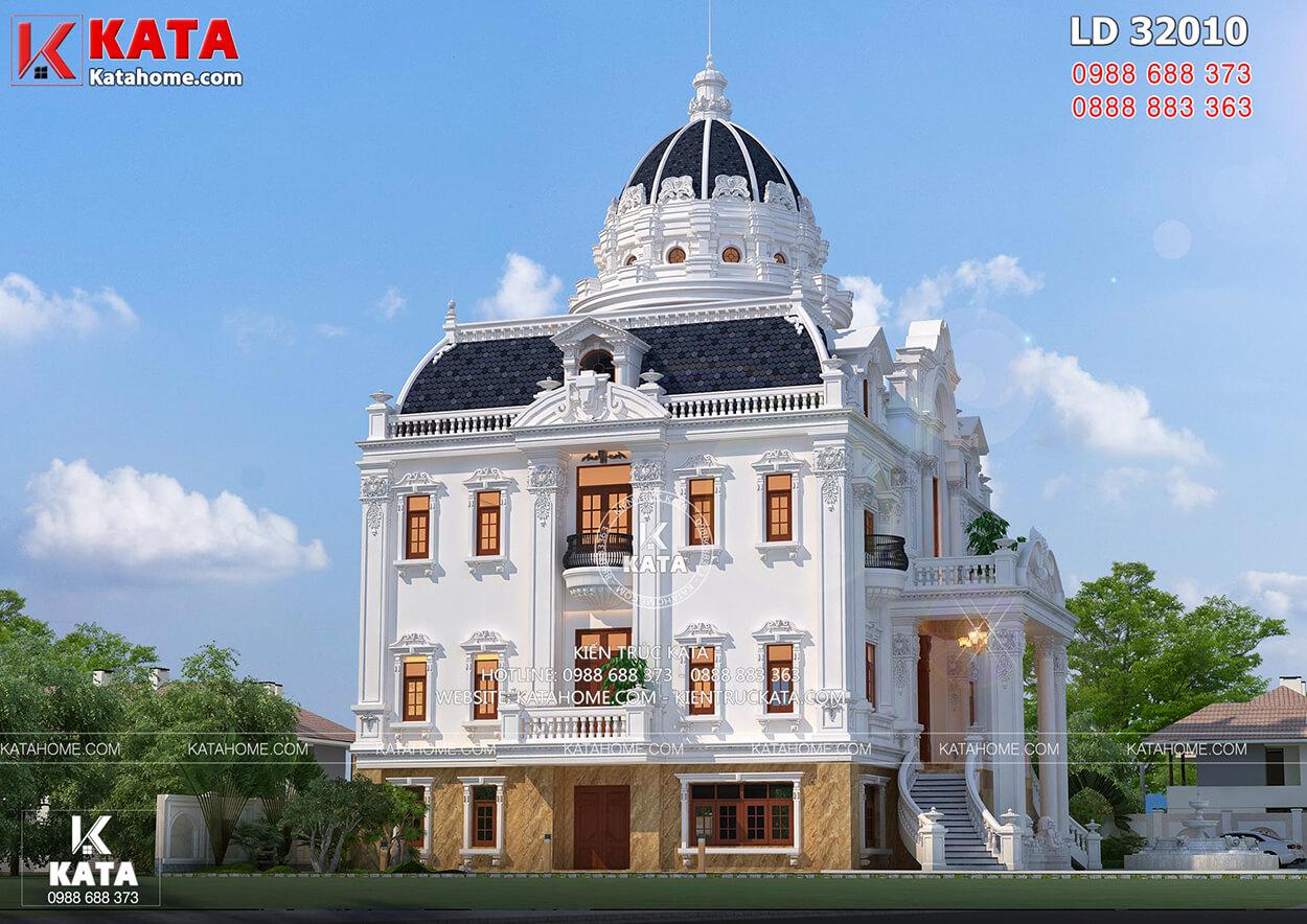 Một góc view đẹp của mẫu dinh thự 3 tầng tân cổ điển