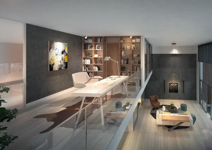Trên gác lửng nhà cấp 4, gia chủ có thể bố trí phòng làm việc thoáng đãng với đầy đủ tiện ích thiết yếu, hướng nhìn xuống tầng trệt.