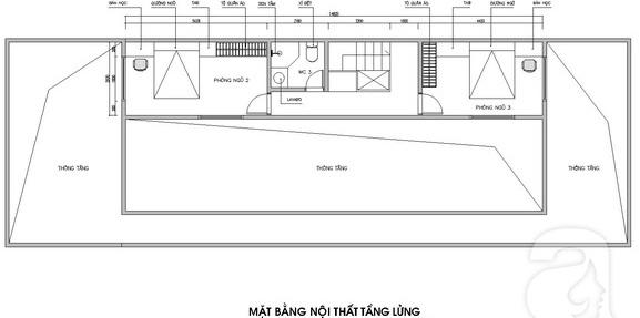 Bản vẽ thiết kế mặt bằng tầng lửng nhà cấp 4
