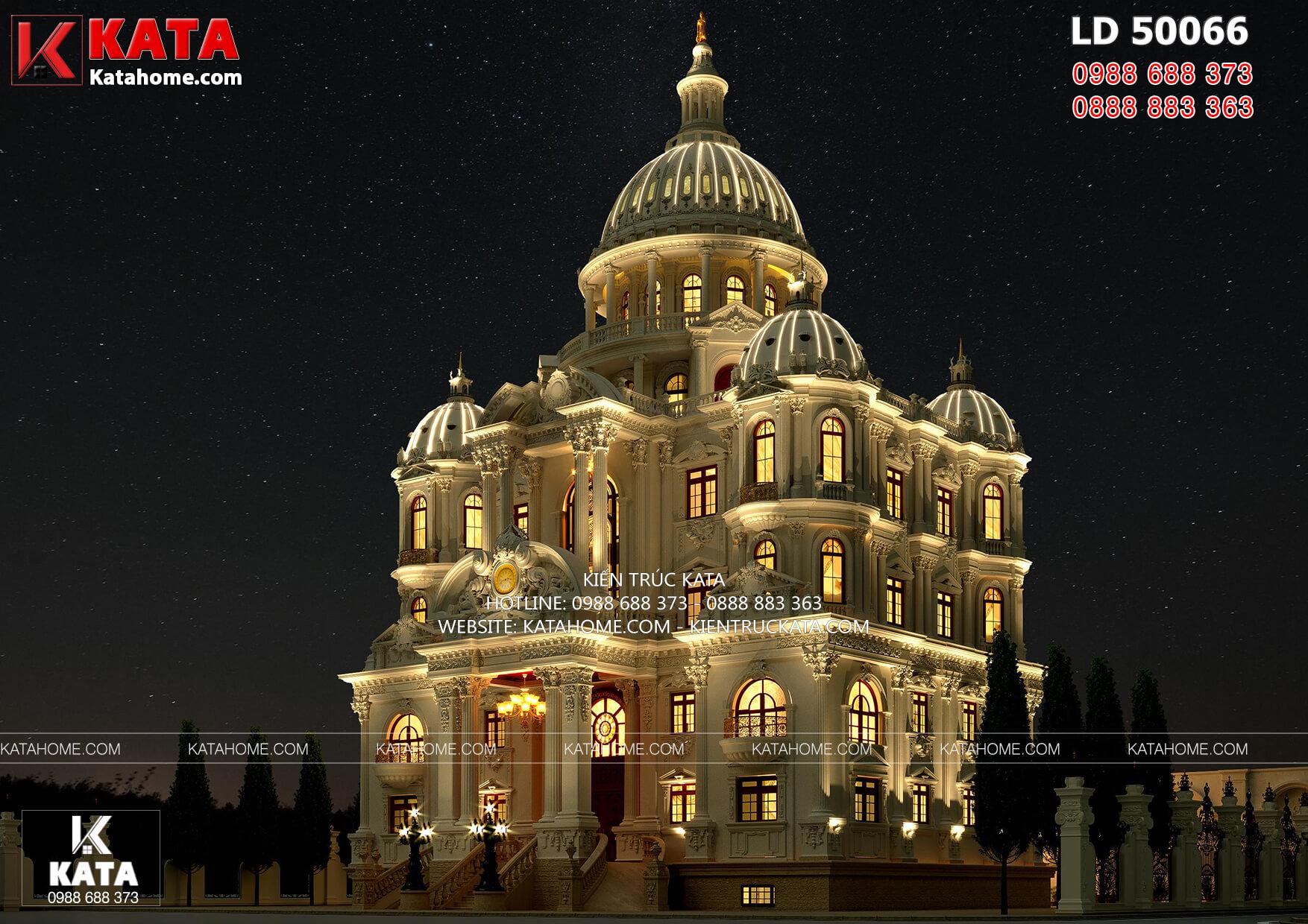 Không gian ngoại thất mẫu thiết kế dinh thự đẹp 4 tầng - Mã số: LD 50066