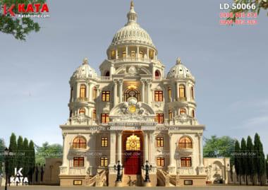 Choáng ngợp với vẻ đẹp đồ sộ của mẫu thiết kế dinh thự lâu đài 4 tầng
